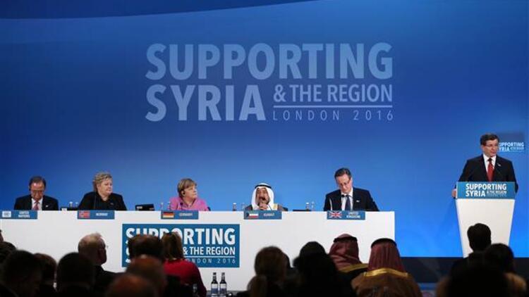Davutoğlu, Londra'daki Suriye konferansında konuştu