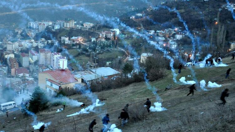 Cerattepe'de akşam saatlerinde yine polis müdahalesi