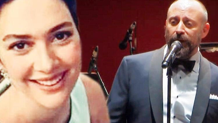 Halit Ergenç şarkısını Bergüzar Korel'in gözlerine bakarak söyledi