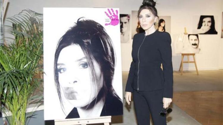 Nebahat Çehre, ALO 183 Hayat Kurtarır Kadına Şiddete Son sergisinin açılışını yaptı!