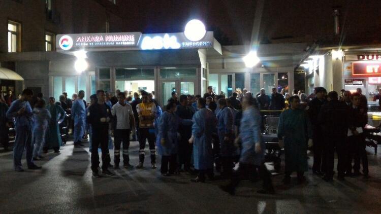 Ankara'daki patlama sonrasında hastanelerde alarm