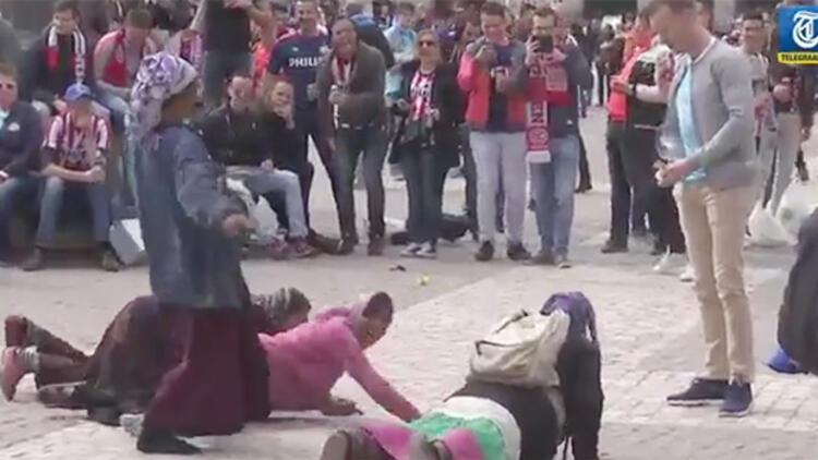 A.Madrid-PSV maçı öncesi insanlık ayıbı!