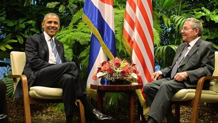 ABD Başkanı Obama Havana'da Küba Devlet Başkanı Castro ile görüştü