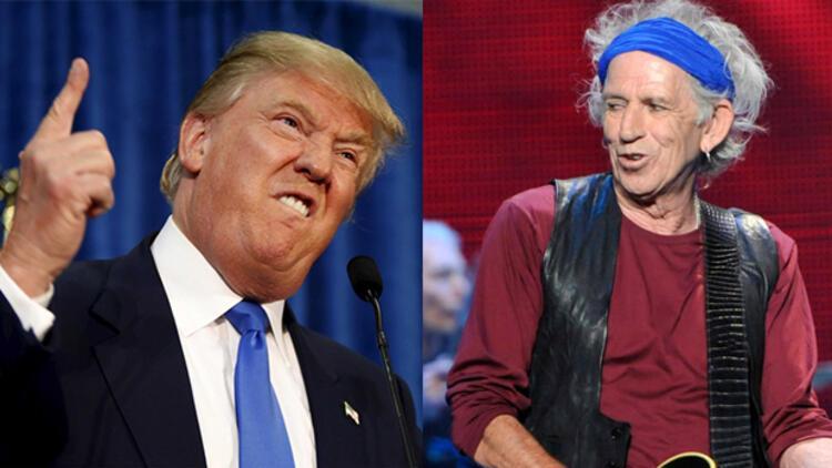 Rolling Stones üyesi Keith Richards, Donald Trump'a bıçak çekmiş!