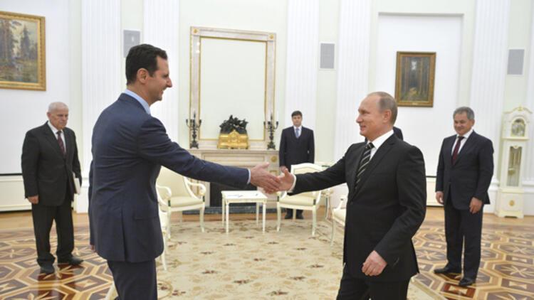 Rusya Devlet Başkanı Putin'den Suriye Devlet Başkanı Esad'a 'Palmira' tebriği
