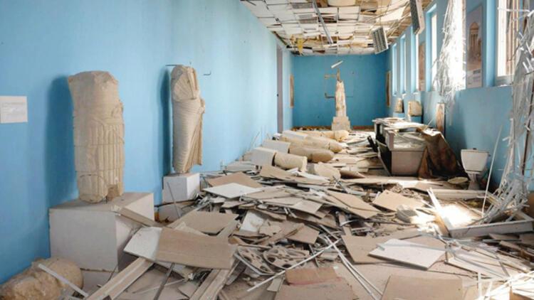 Palmira müzesinde yıkım şoku