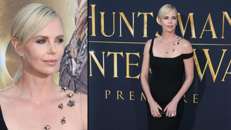 Charlize Theron'a böcekli elbise