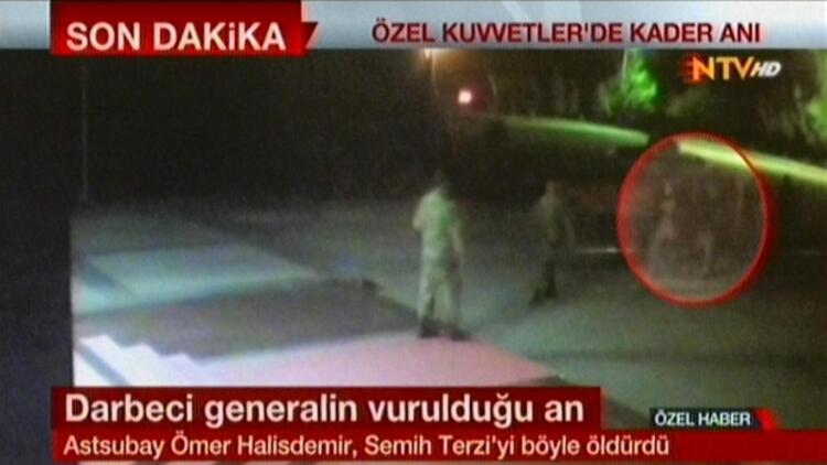 Ömer Halisdemir'in darbeci general Semih Terzi'yi öldürdüğü o an