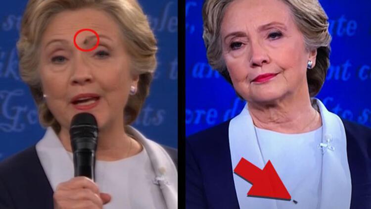 Hillary Clinton'ın yüzüne konan sinek meşhur oldu!