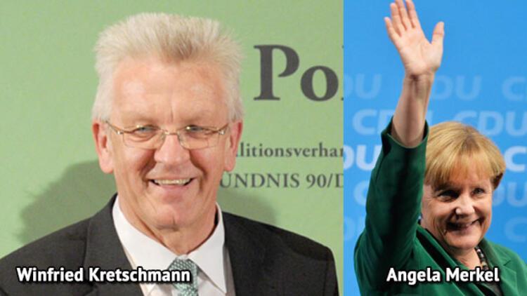 Yeşillerli Kretschmann: Merkel'den daha iyi kimse yapamaz