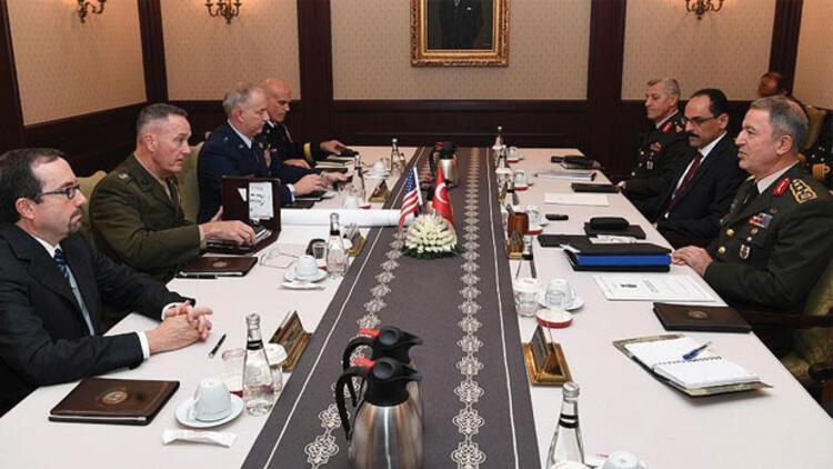 Akar ile Dunford Suriye ve Irak'ı görüştü