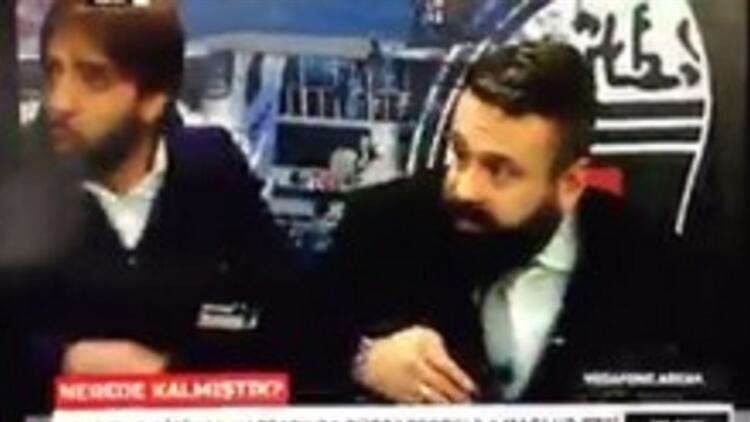 BJK TV'nin canlı yayınında patlama anı