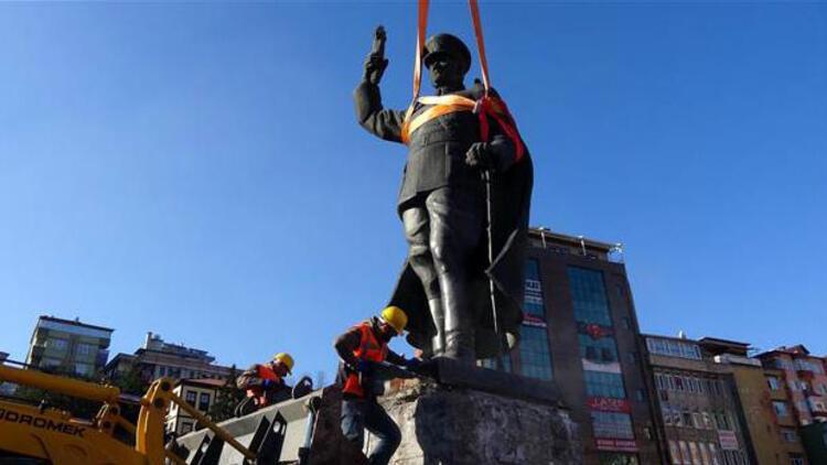 Rize'de Atatürk anıtının kaldırılmasına tepki