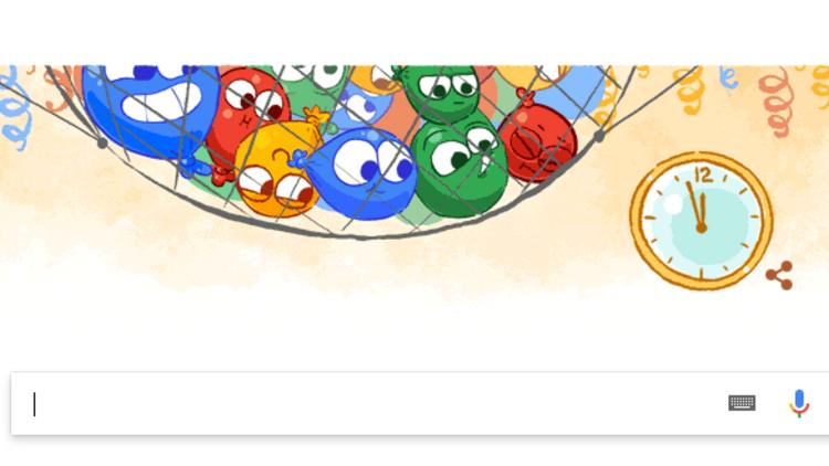 Google yılbaşı arifesini Doodle yaptı!