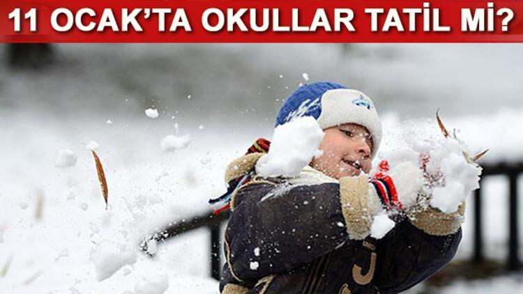 11 Ocak Çarşamba günü okullar tatil edilecek mi? Yarın İstanbul'da okullar tatil mi?
