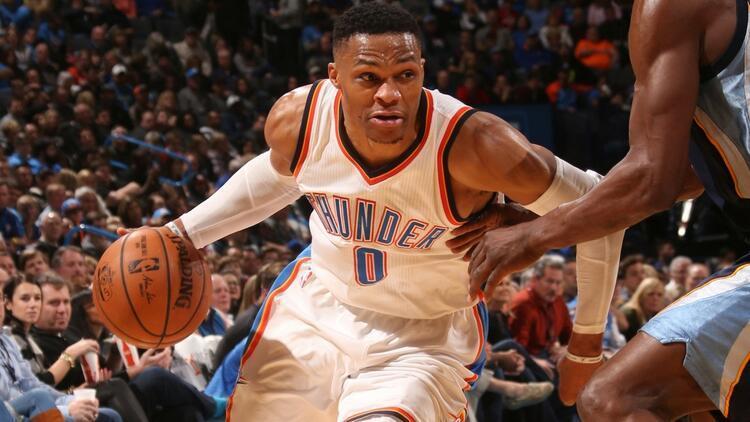 """Westbrook'tan sezonun 25. """"triple-double""""ı"""