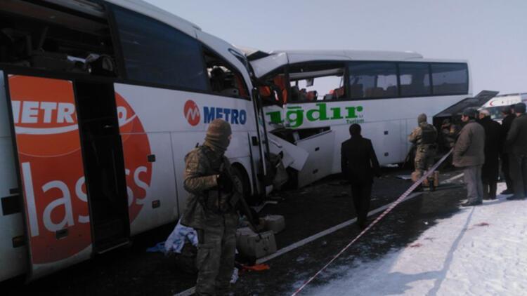 Son dakika: İki yolcu otobüsü kaza yaptı.. Ölü ve yaralılar var