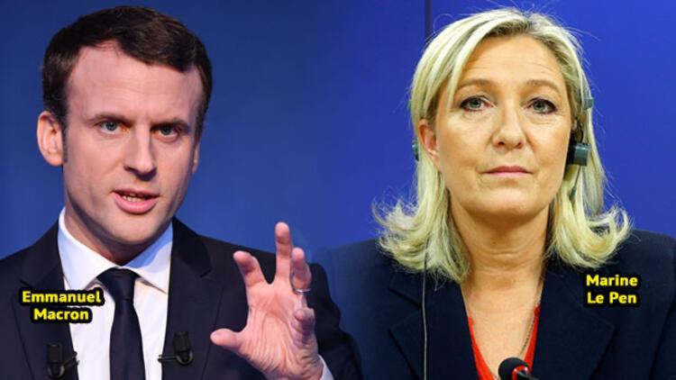 Macron, ilk turda Le Pen'i geçiyor