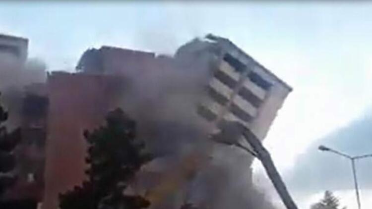Sivas'ta 11 katlı hastanenin yıkımında büyük panik!