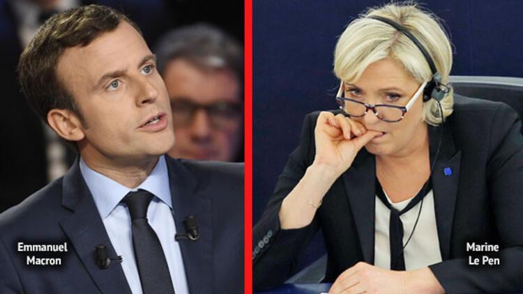Macron bir puanla Le Pen'in önünde