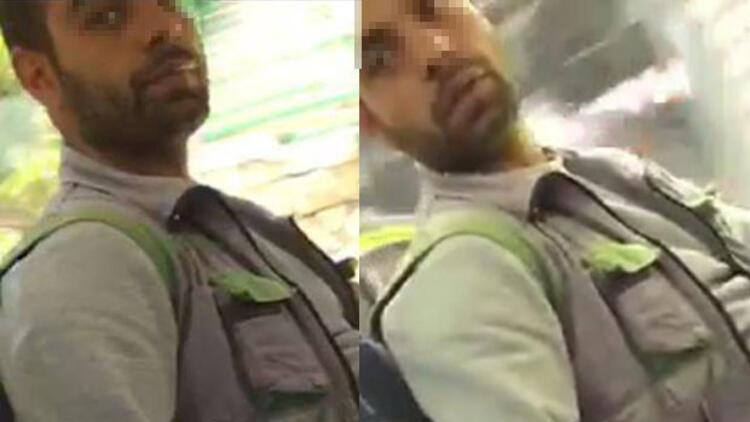 Otobüste tacizde bulunan kişiyi fotoğrafladı
