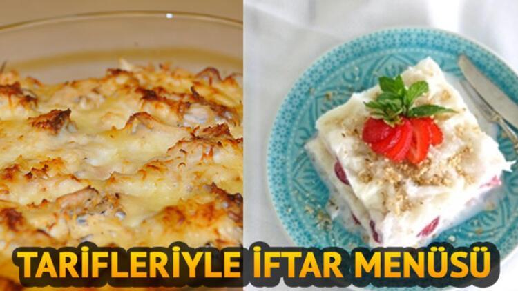 Tarifleriyle iftar menüleri: Beşamel soslu tavuk, çilekli güllaç tarifi