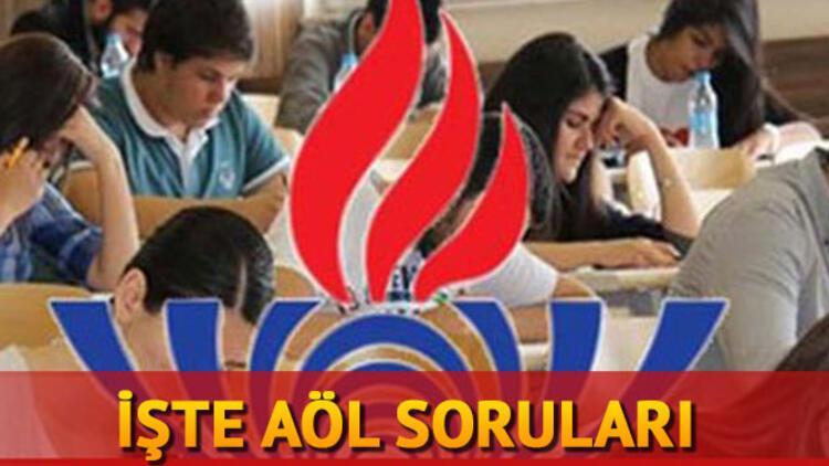 AÖL (Açık Lise) sınav soruları yayımlandı... AÖL sonuçları ne zaman açıklanacak?