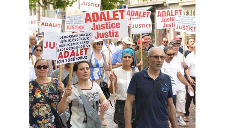 Adalet Yürüyüşü'ne Strasbourg'tan destek