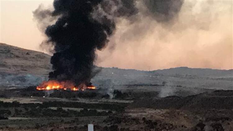Kiliste askeri personelin kaldığı konteynerlerde yangın