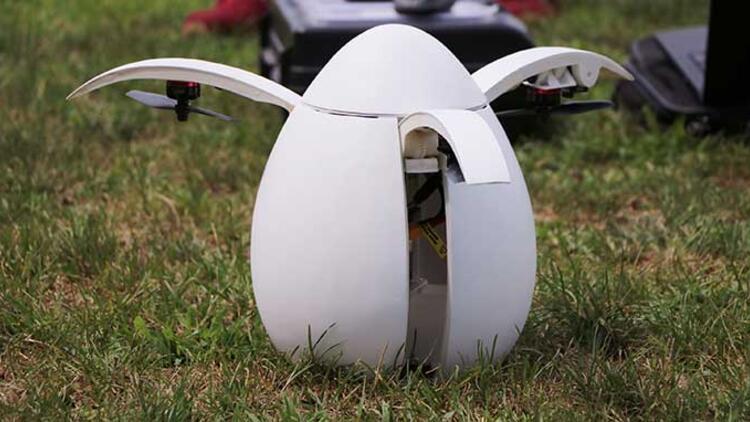 Türk öğrencilerden yumurta gibi drone