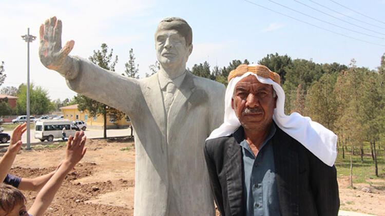 'Tanka dur diyen' Erdoğan heykeli kaldırıldı