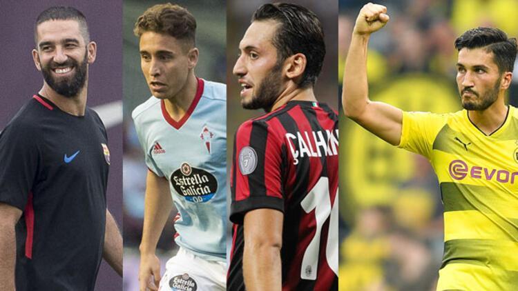 Avrupa liglerindeki Türk futbolcular