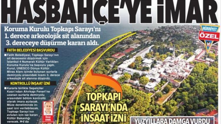 Topkapı Sarayı'nın Hasbahçe'si 'denetimli inşaat'a açılıyor
