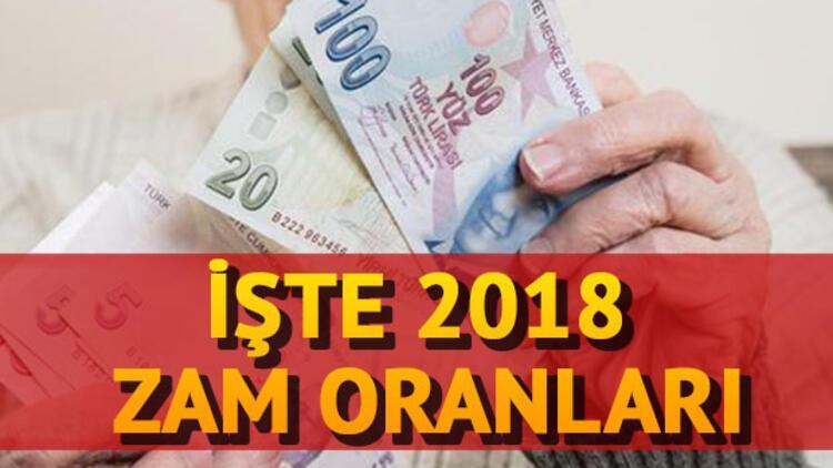 SSK, Bağ-Kur ve memur emeklisi zammı ne kadar olacak? 2018 emekli maaşı ne kadar?