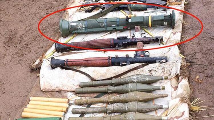 PKKlı hainler ABDnin verdiği roketatarla saldırdı