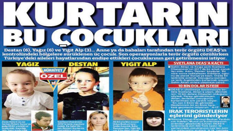 Iraktaki 350 çocuk Türkiyeye getiriliyor
