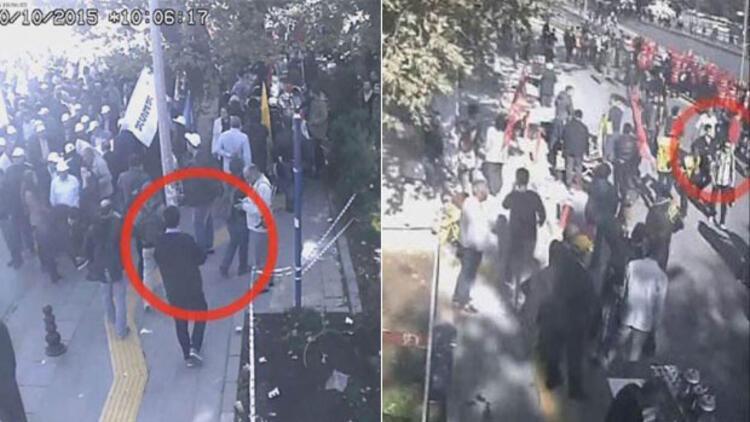 Gar katliamında 102 kişiyi öldüren 2 canlı bombanın geliş görüntüleri
