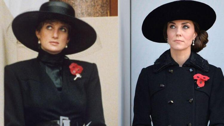 Kate'in tıpkı Prenses Diana gibi göründüğü 10 an