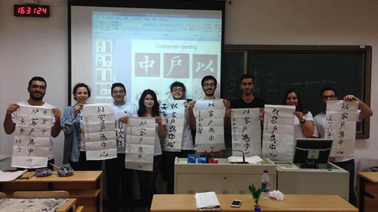 Kariyer yolu Çin'den geçen gençler kampüste