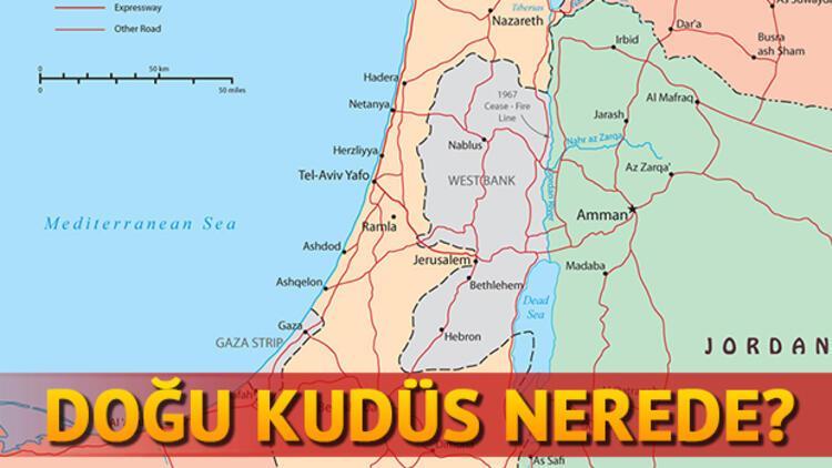 Doğu Kudüs nerede yer almaktadır Filistinin Başkenti Doğu Kudüs neresi