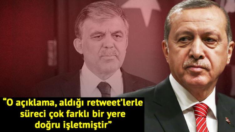 Cumhurbaşkanı Erdoğan'dan Abdullah Gül'e sitem