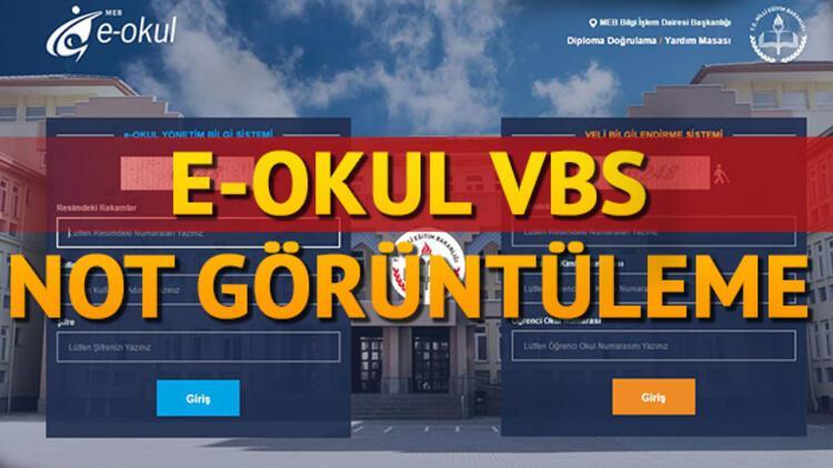 E- okul VBS giriş sayfası - E - okul ortalama görüntüleme ekranı