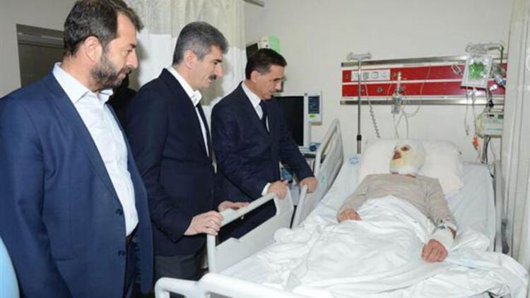 Ankara Valisi, Meclis önünde kendisini yakan işçiyi ziyaret etti