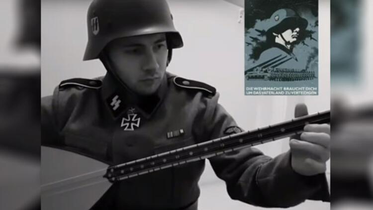 Nazi SS'lerin marşını bağlamayla çaldı
