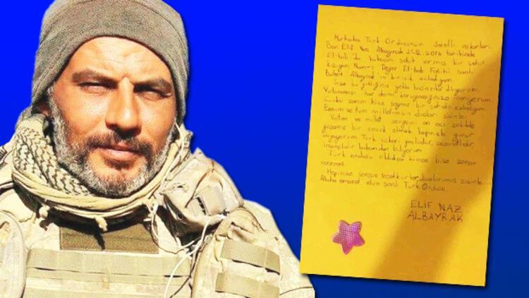 Şehit Binbaşı Bülent Albayrak'ın kızından Mehmetçiğe mektup