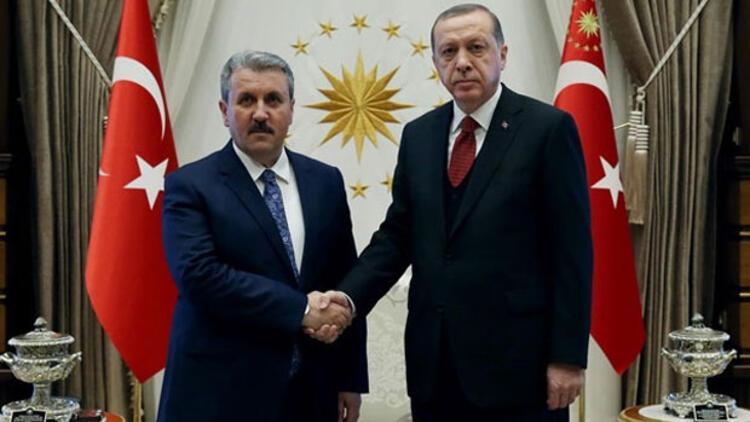 Cumhurbaşkanı Erdoğan, BBP lideri Destici ile görüşüyor