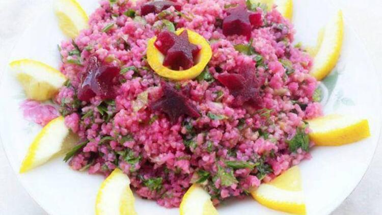 Pembe bulgur salatası tarifi
