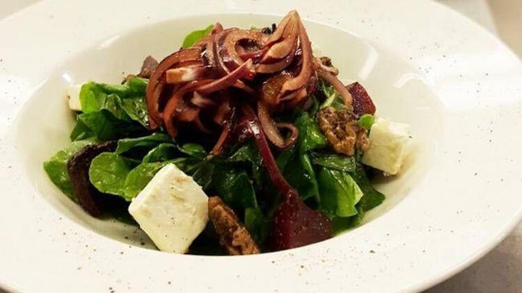 Keçi peynirli pancar salatası tarifi