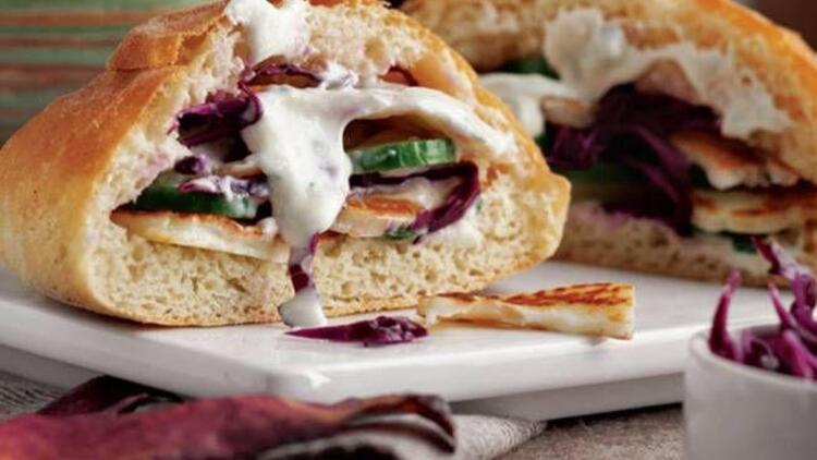 Hellimli pita sandviç tarifi