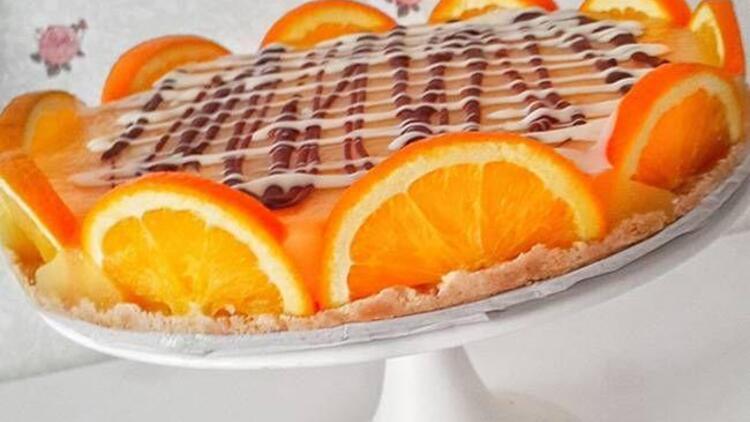 Portakallı irmikli pasta tarifi